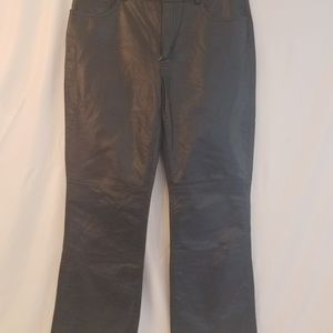 EXPRESS Women's Genuine Leather Pants Black Lined